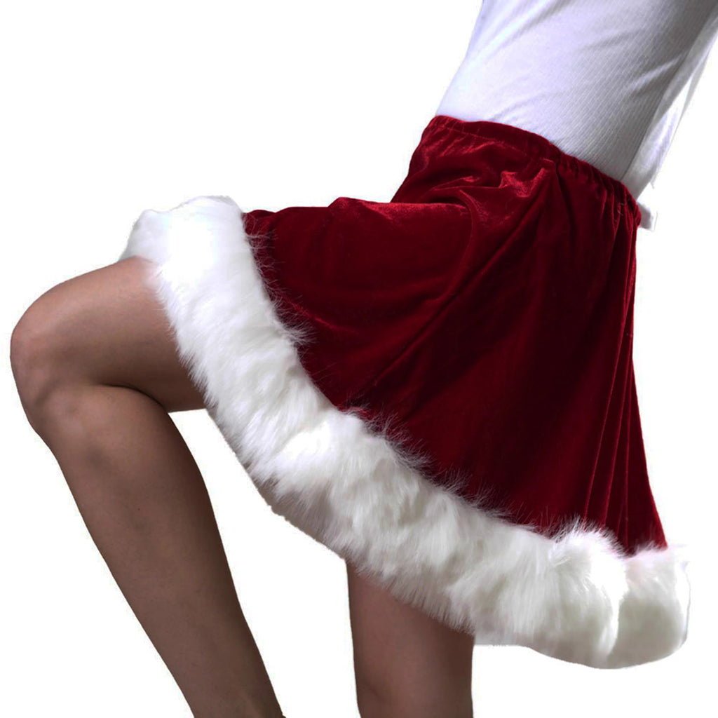 Velvet Ms. Claus Skirt