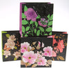 Medium Floral On Black Gift Bags