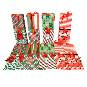 Christmas Shapes Wine Bottle Gift Bags
