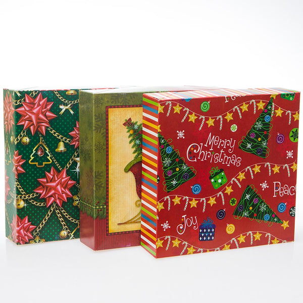 Flat Christmas Square Boxes