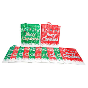 Large Christmas Pop Up Glitter Gift Bags