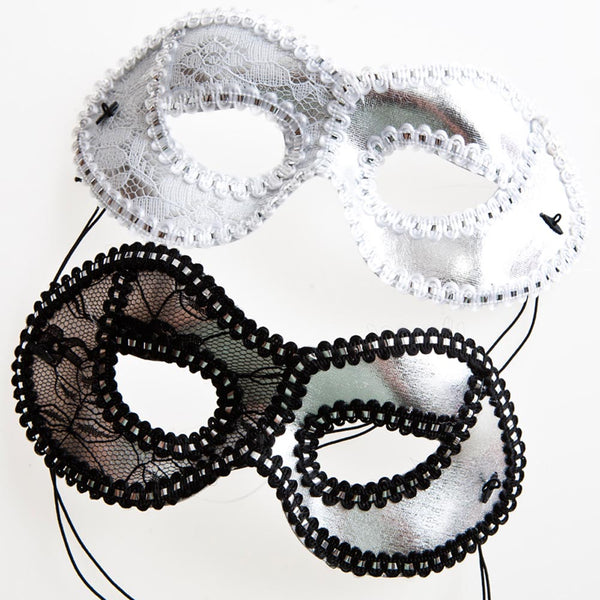 Decorated Silver Masquerade Mask