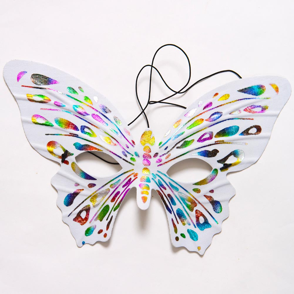 Muti-Color Butterfly Half Mask