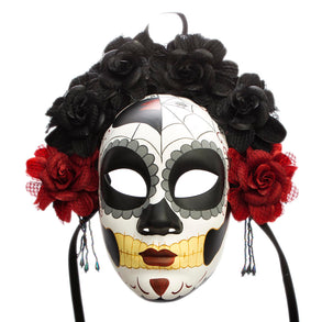 Day of the Dead Full Mask with Flowers