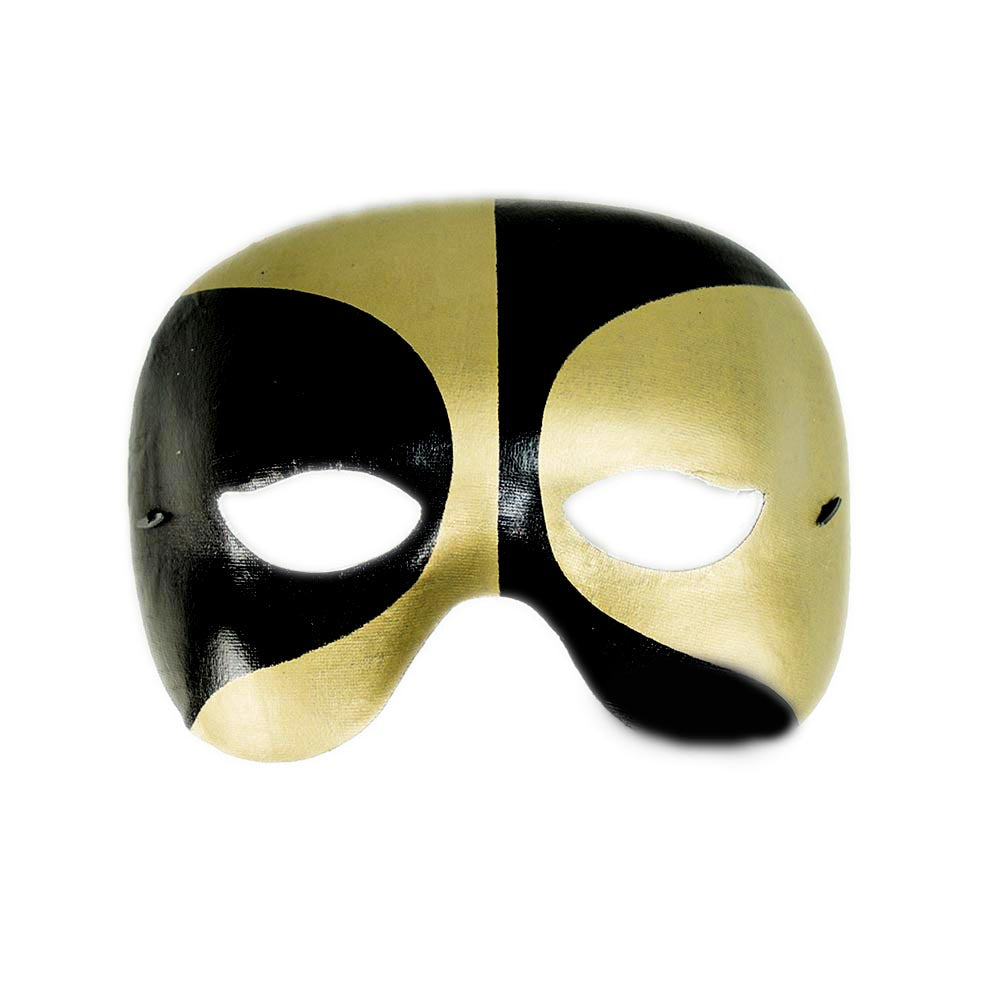 Black and Gold Half Masquerade Mask