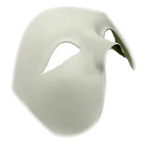 Men's White Wrap Phantom Half Mask