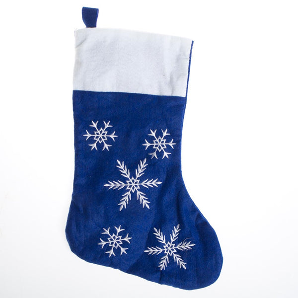 Snowflake Felt Christmas Stocking