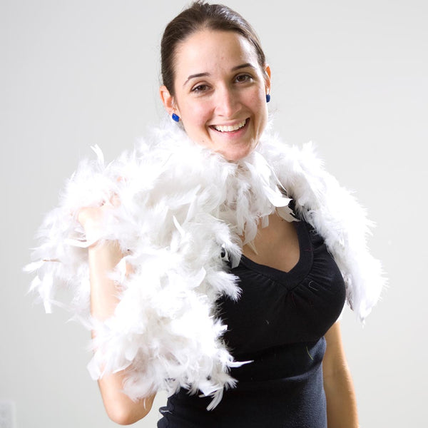 White Feather Boa