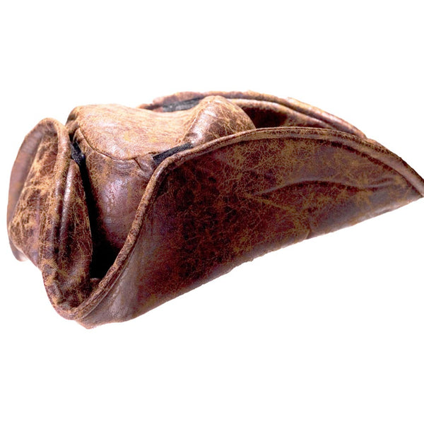 Brown Leatherette Pirate Hat