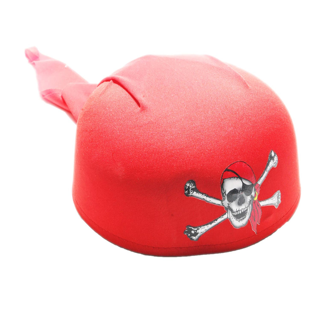 Deluxe Red Pirate Scarf Hat