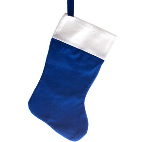 Blue Felt Christmas Stocking