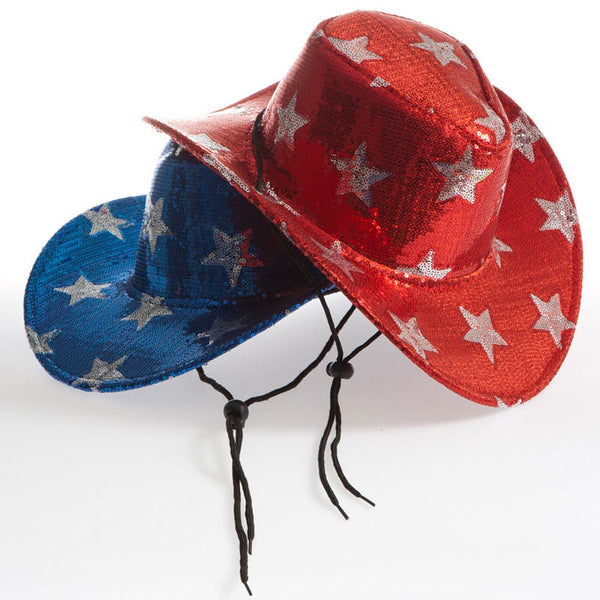 Patriotic Sequin Cowboy Hat