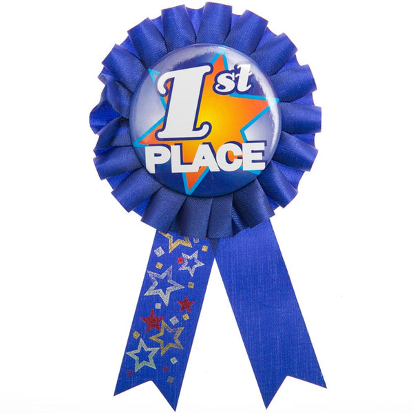 1st Place Rosette Ribbon Button