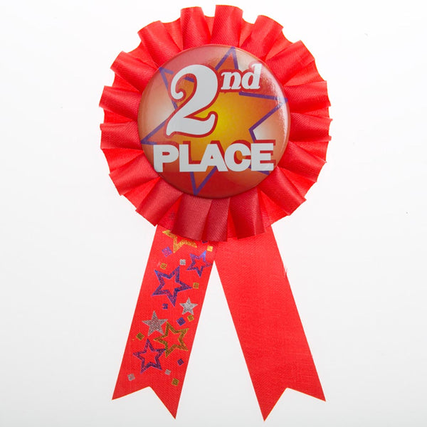 2nd Place Rosette Ribbon Button