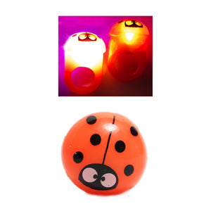 Flashing Ladybug Ring