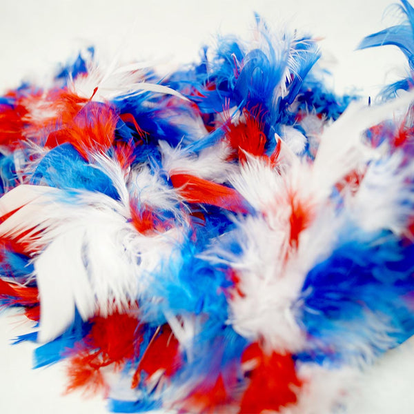 Patriotic Feather Boa