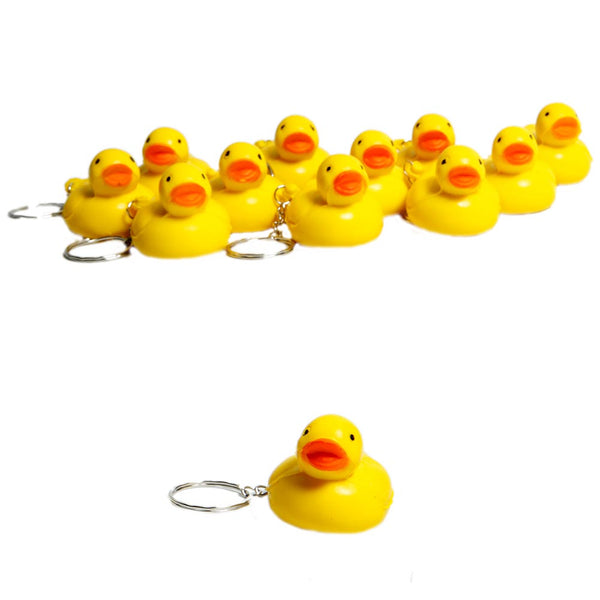 Soft Rubber Duck Keychains