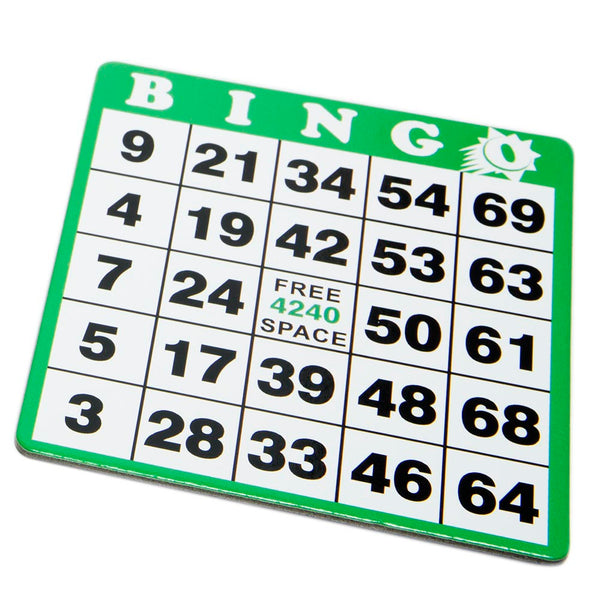 Green Bingo Hard Card