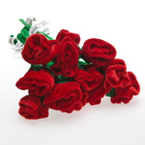 Plush Red Rose Bouquet