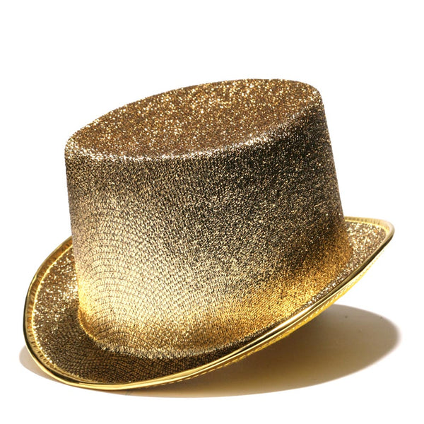 Gold Glitter Top Hat