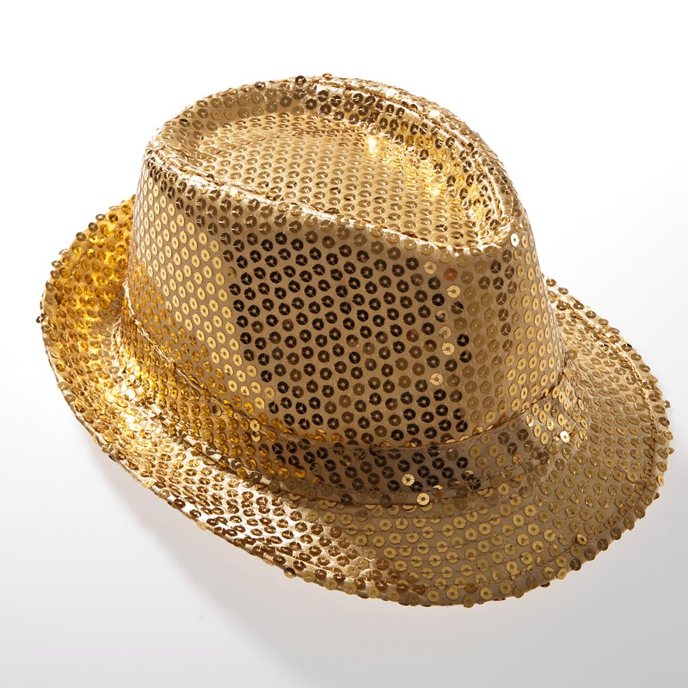 Gold Sequin Fedora