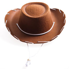 Children's Brown Felt Cowboy Hat
