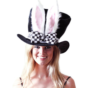 White Rabbit Ears Top Hat