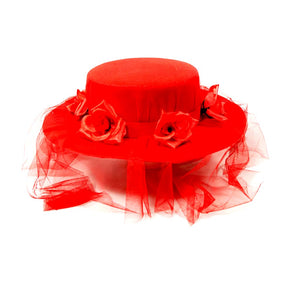 Red Spanish Hat With Veil