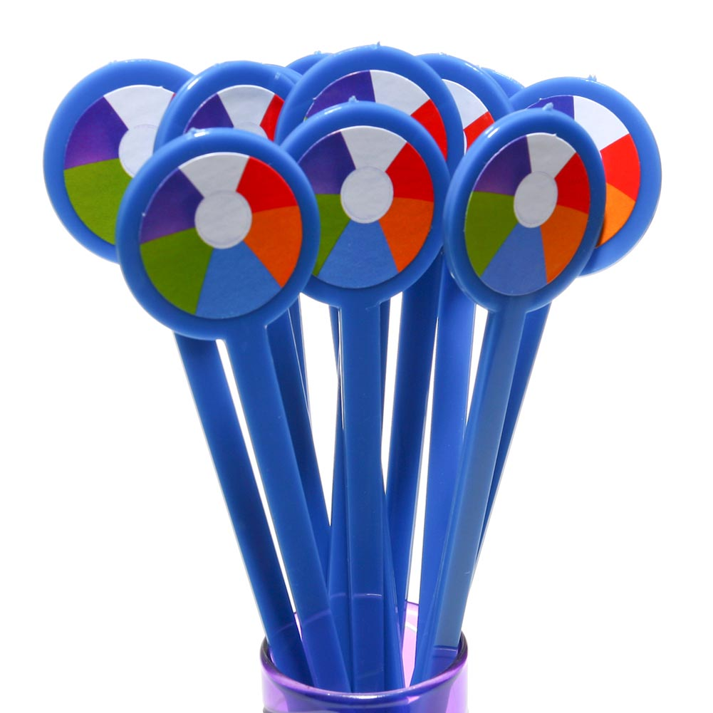 Beach Ball Drink Stirrers