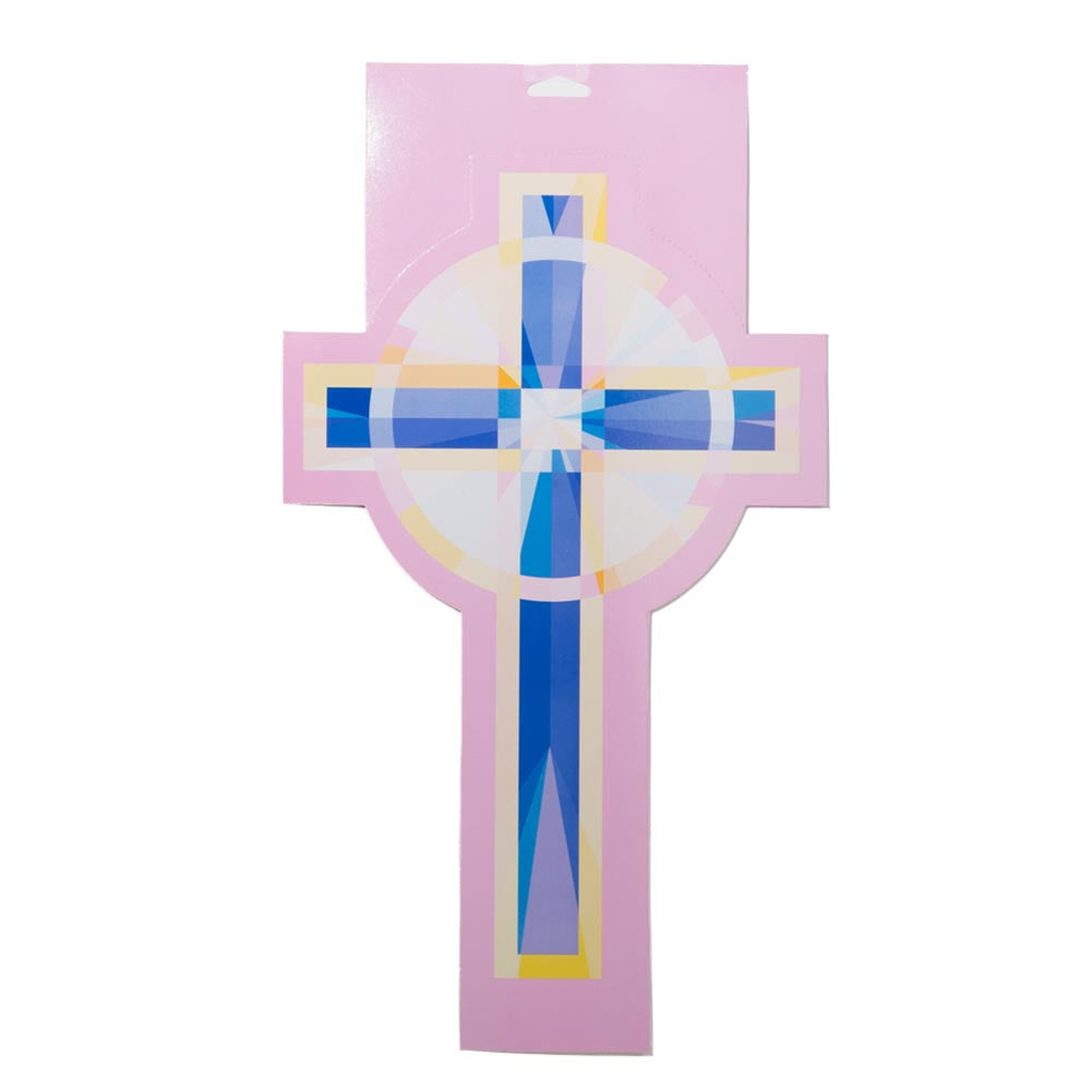 Pink Cross Cutout