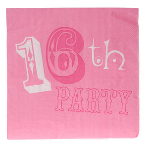Pink Party Sweet 16 Lunch Napkins