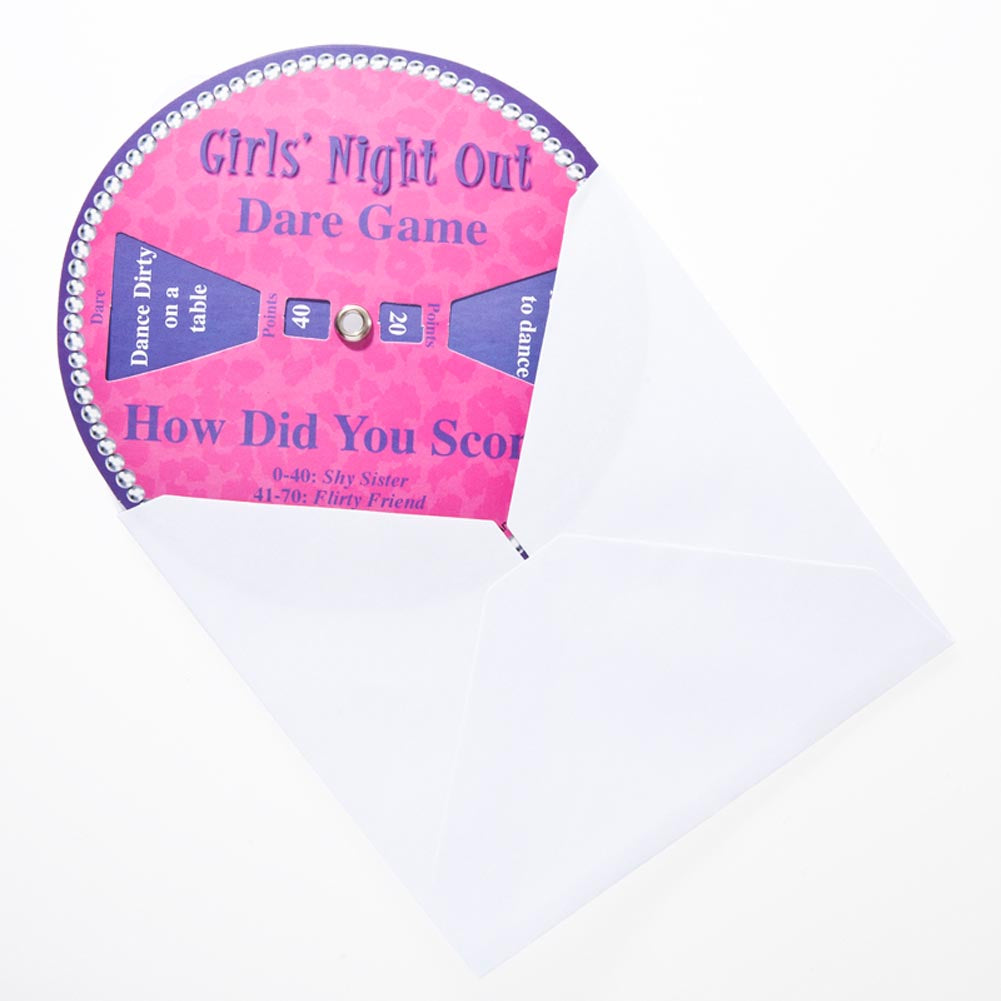 Girls' Night Out Dare Game Invitation
