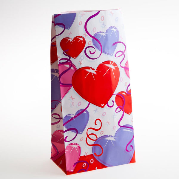 Dazzling Hearts Paper Goody Bags