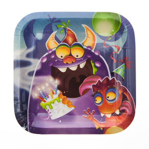 "Birthday Monster 7"" Plates"