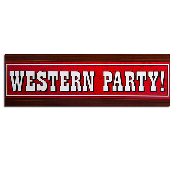 """Western Party"" Giant Banner"