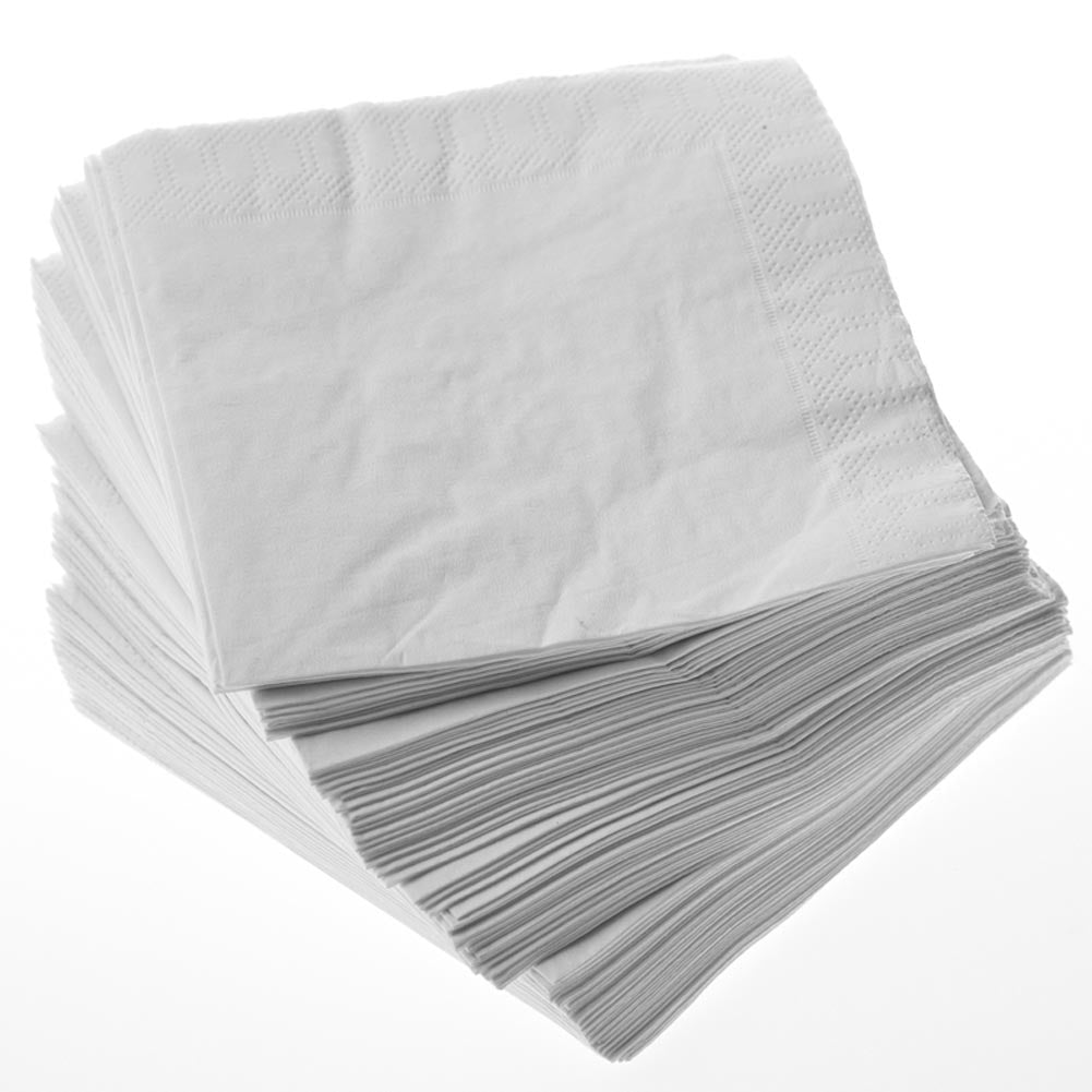 190 White Beverage Napkins