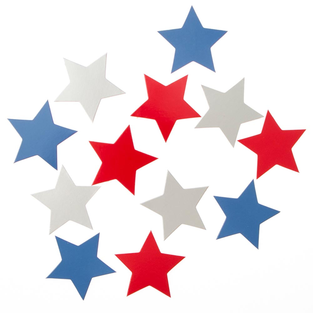 Large Patriotic Star Confetti