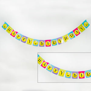 "Smiley Face ""Happy Birthday"" Banner"