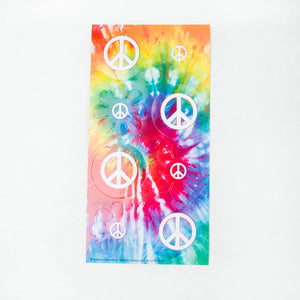 Tie Dye Peace Sign Stickers