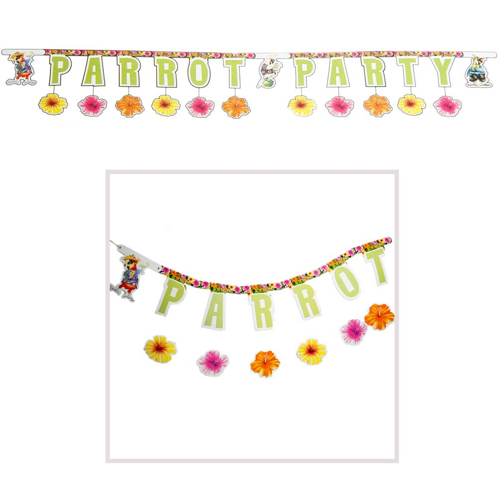 Parrot Party Jointed Banner