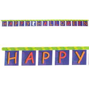 "Ghostly ""Happy Halloween"" Jointed Banner"
