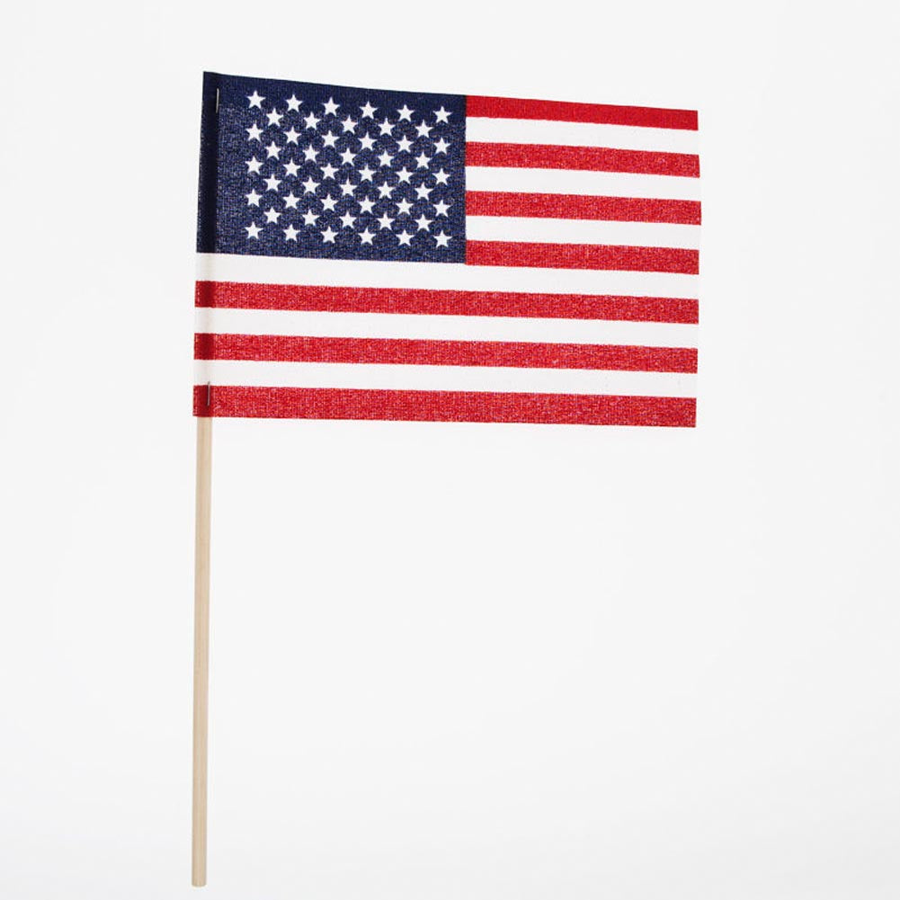 "Made In USA 4""x6"" Cloth Flags (25 Pack)"