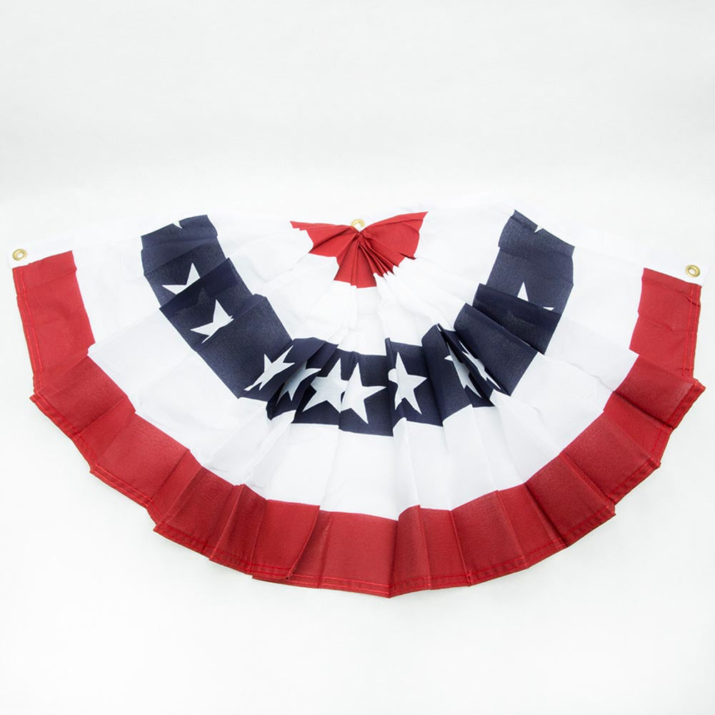 "Made in USA 36"" Patriotic Fan Bunting"