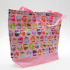 Large Pink Owl Tote Bag w/ Reinforced Bottom