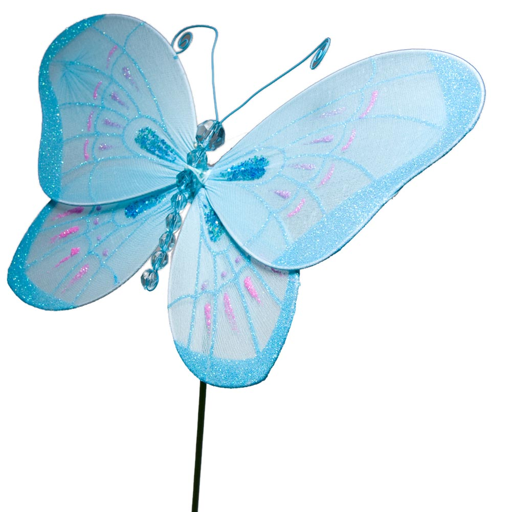 "11"" Blue Stick Butterfly"