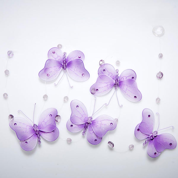 Purple Butterfly Danglers