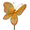"7 1/4"" Orange Stick Butterfly"