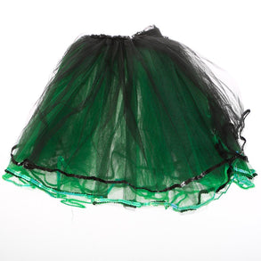 Adult Green and Black Layered Tutu