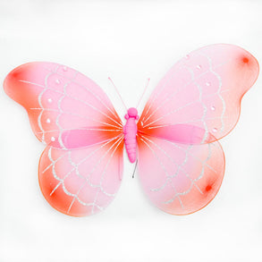 "20"" Nylon Orange & Pink Butterfly"