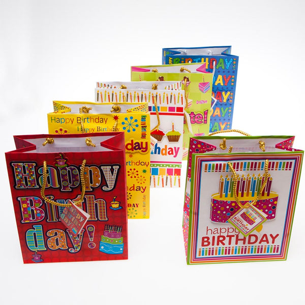 "Medium Pop Up ""Happy Birthday"" Gift Bags"